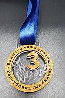 Медаль из акрила с лентой и вставкой из фанеры, фото 1
