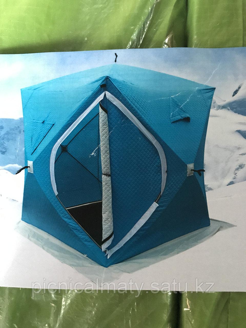 Палатка для зимней рыбалки куб утепленная на синтепоне Tuohai 1,8м - фото 1