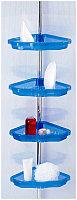 Угловая полка для ванной комнаты с регулируемой высотой Primanova N17