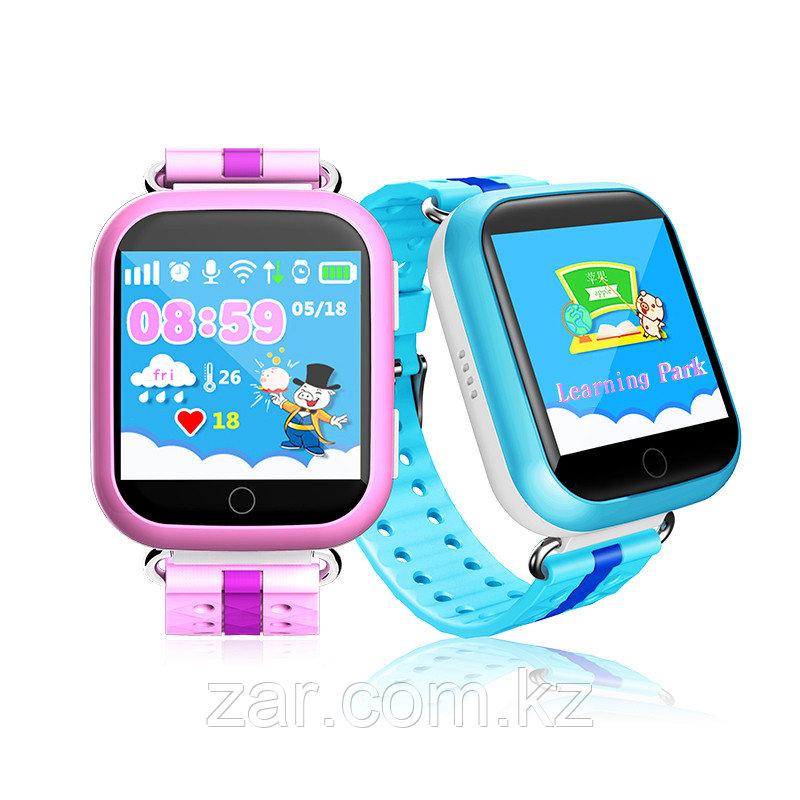 Детские GPS часы Smart Baby Watch Q100 с большим сенсорным дисплеем