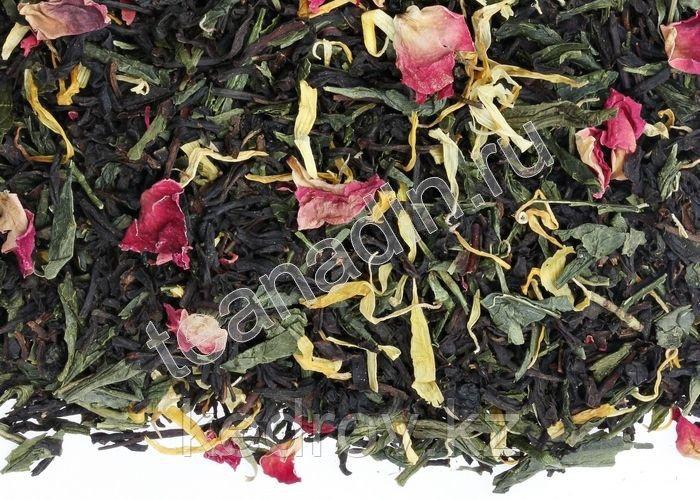 """Чай """"1001 ночь"""" (композиционный), 1 кг (Надин) черный + зеленый"""