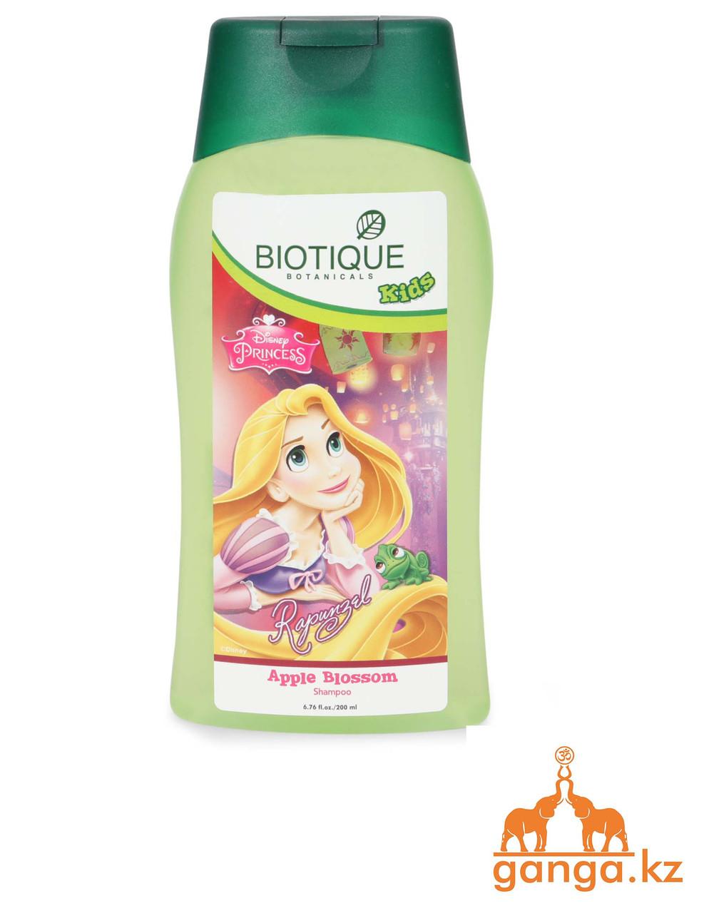 Детский шампунь Рапунцель, без слез, Биотик, Зеленое Яблоко (Bio Green Apple Baby Shampoo BIOTIQUE), 200мл.