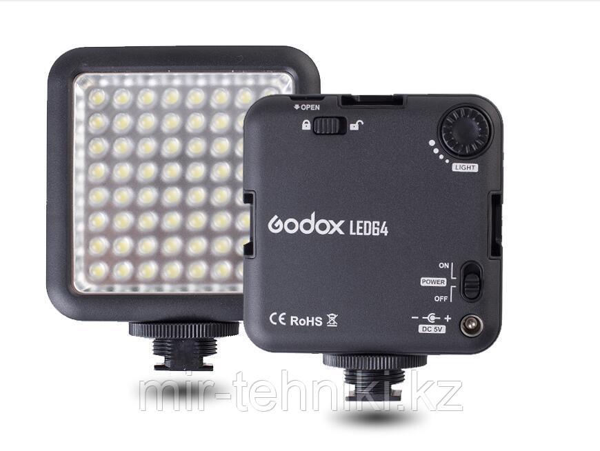 Накамерный свет светодиодный Godox LED 64