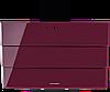 Вытяжка  KUPPERSBERG F 925 L лиловое стекло/короб черная эмаль/кромка FACET