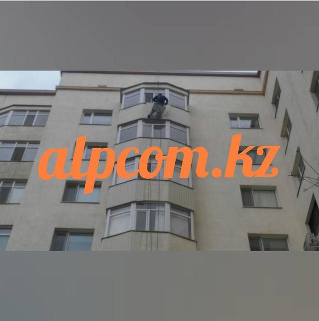 """Монтаж профлиста на балконы ЖК """"Керемет"""" 2017 год"""