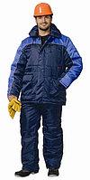 """Спецодежда зимняя Костюм """"БАЛТИКА"""": куртка дл., полукомбинезон тёмно-синий с васильковым"""