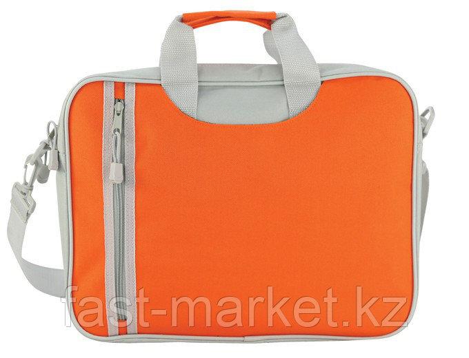 Сумка почтальона серо-оранжевая