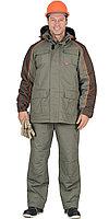 """Спецодежда зимняя Костюм """"Кобальт"""": куртка, брюки, оливковый с темно-коричневым"""