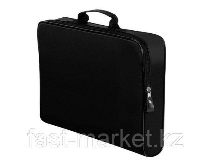 Конференц-сумка на молнии черная