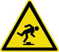 Знак Осторожно малозаметное препятствие