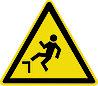 Знак Осторожно Возможно падение с высоты
