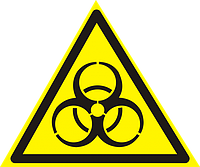 Знак Осторожно биологическая опасность