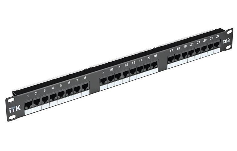 ITK 2U патч-панель кат.6 UTP, 48 портов (Dual)