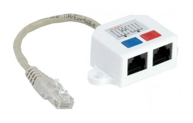 ITK Проходной адаптер кат.5E UTP, тип RJ45-RJ45, белый, фото 2