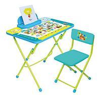 Комплект мебели Ника Пушистая азбука КУ2/ПА (стол+стул мягкий), фото 1