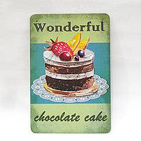 "Декоративная жестяная табличка, ""Wonderful"", 30*20 см"