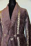 Мужской халат велюр-махра с воротником шалька, фото 2