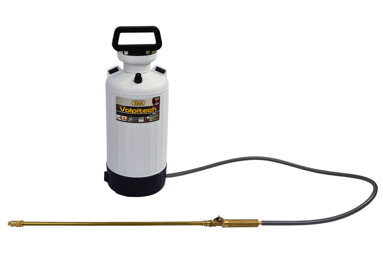 Опрыскиватель VOLPITECH (Италия) 6 литров, бак и насос из пластика, для дезинфекции