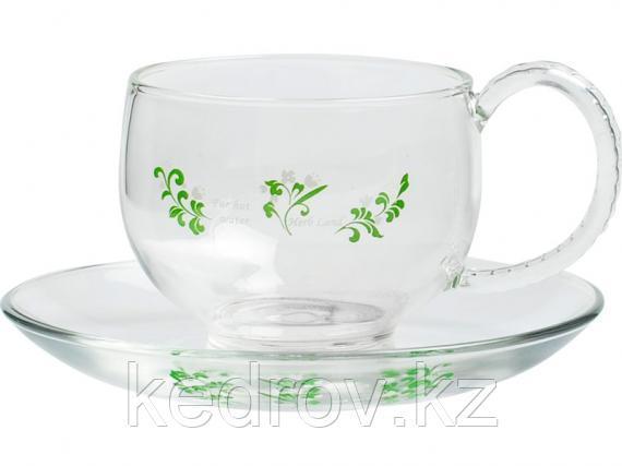 """Чашка с блюдцем """"Аламера"""" 150 мл (тонкое стекло)"""