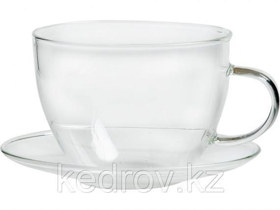 """Чашка с блюдцем """"де Шелли"""" 225 мл (тонкое стекло)"""