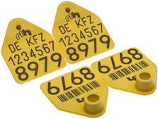 """Бирка ушная двойная """"Неофлекс-S"""", с номерами, размер 40х49мм, Хауптнер"""