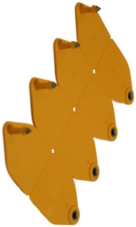 Бирка ушная двойная «Неофлекс TPS» для КРС, 75х55 мм. Хауптнер