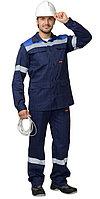 """Костюм """"СУРГУТ"""" летний: куртка, полукомбинезон тёмно-синий с васильковым и СОП, фото 1"""
