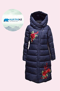 Зимняя куртка с вышивкой