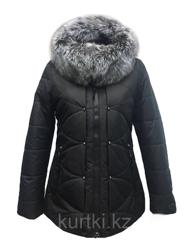 Женская куртка пуховик чёрная