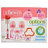 Набор Dr.Brown's из 3-х противоколиковых бутылочек с ш/г РОЗОВЫЙ, фото 2