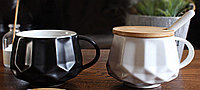 Чашка Алмаз. Черная - матовая. 350 мл. 1шт - в комплекте