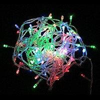 Гирлянда нить светодиодная 68 LED, RGB (мультицвет), силиконовый провод, 8 м