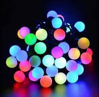 Гирлянда шарики 16 LED ёлочная новогодняя гирлянда