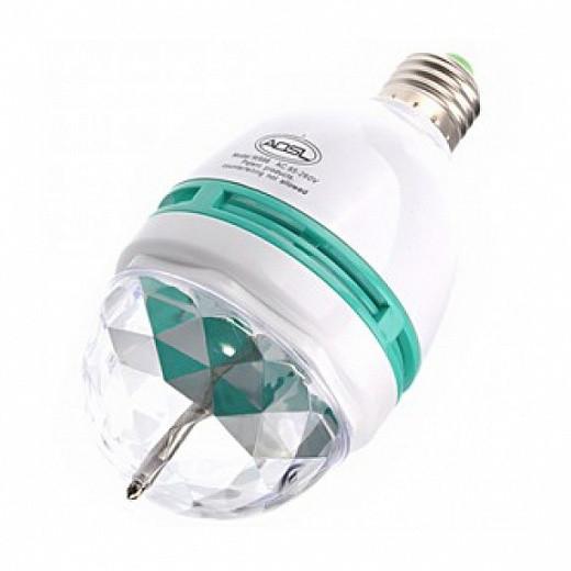 Вращающаяся диско лампа LED