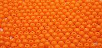 Бусины из акрилового пластика глянцевые.Оранжевые. d-6 мм. Creativ  1848