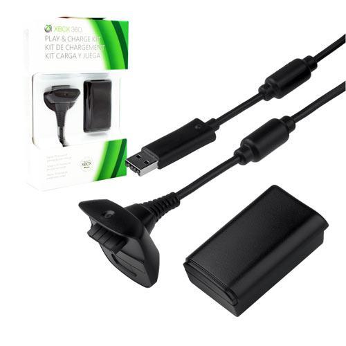 Зарядный комплект Play & Charge Kit для геймпада Xbox 360 (RA-003-2)