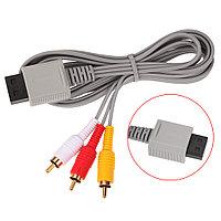 Аудио видео AV композитный 3 RCA кабель для Wii