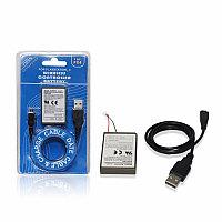 Аккумулятop на джойстик PS4  KCR1410 3,7v 2000ma+кабель USB