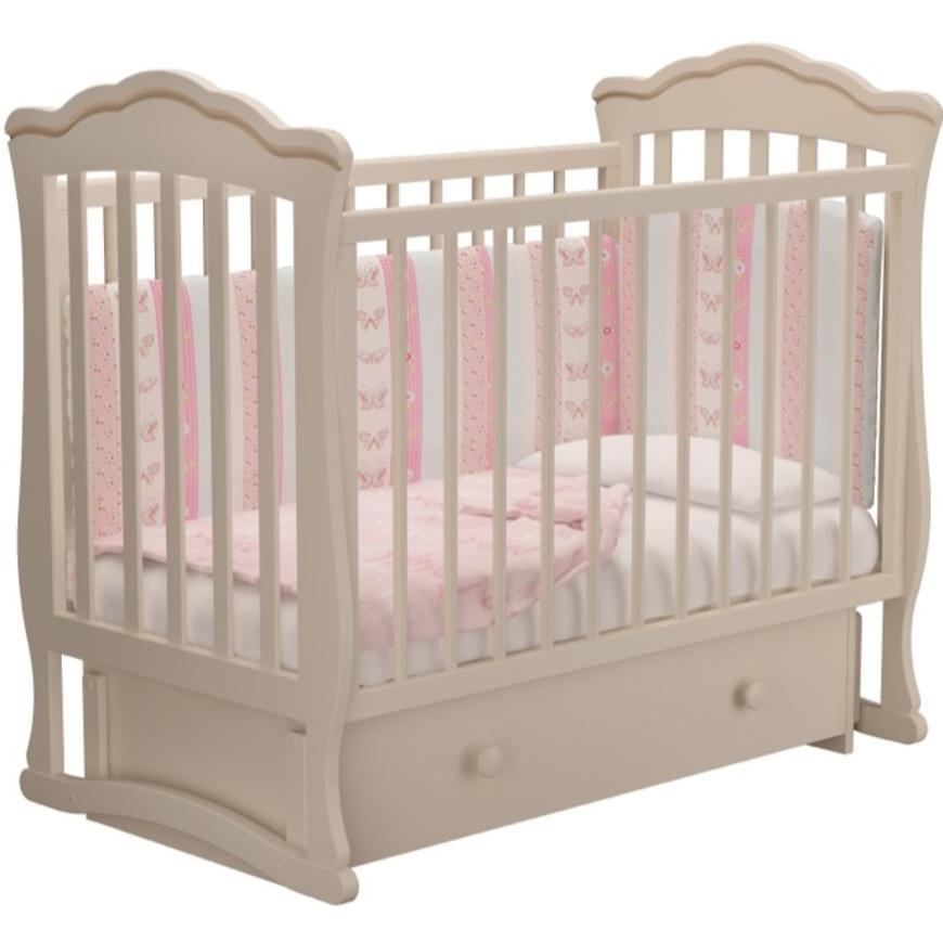 """Детская кроватка """"Велла"""" без ящика (белый, слон кость)"""