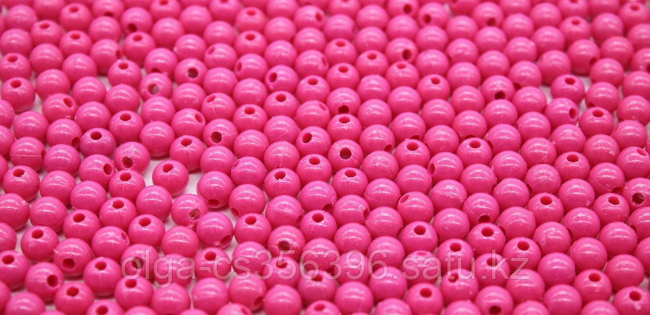 Бусины из акрилового пластика глянцевые. Малиновые. d-6 м. Creativ 1849