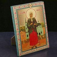 Икона-холст на подставке 'Блаженная Ксения Петербургская'