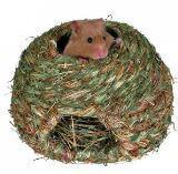 Trixie Плетеный тоннель с сеном и морковью, для морских свинок - 33х15 см, фото 1