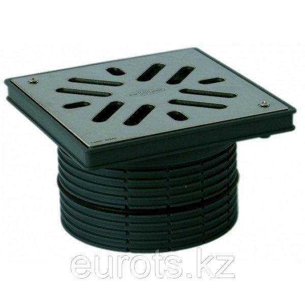 Надставной элемент с подрамником из ПП, с решеткой из нержавеющей стали (марки V4A), крепится 2-мя винтами