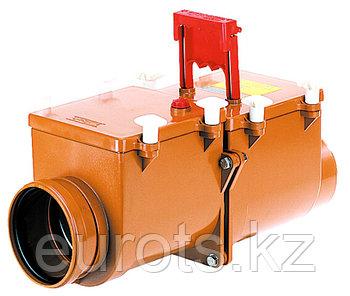 2-х камерный канализационный затвор с ручной фиксацией одной заслонки в закрытом положении HL710.2 –