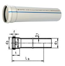 Труба канализационная ПВХ SANTEC 75/250 (2.2) L 250 мм
