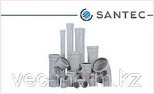Труба канализационная ПВХ SANTEC 75/250 (3.2) L 250 мм, фото 2