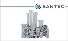 Труба (канализационная) ПВХ SANTEC 75/1000 (2.2) L 1000 мм, фото 2