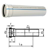 Труба (канализационная) ПВХ SANTEC 100/2000 (2.2) L 2000 мм