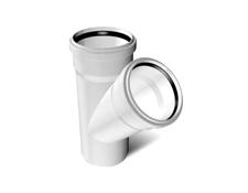 Тройник ПВХ канализационный (45°) 3.2 mm