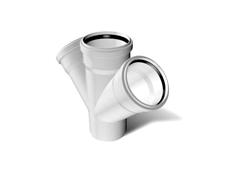 Крестовина косая ПВХ канализационная 3.2 mm